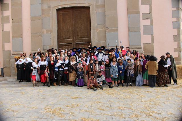 Més de 100 persones es transformen per retrocedir al s.XVII