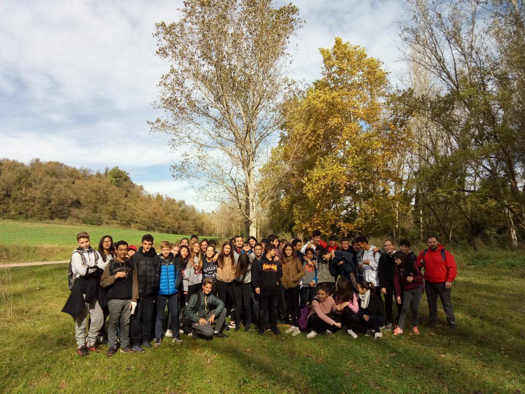 Grup d'alumnes de l'INS Jaume Vicens Vives de Girona