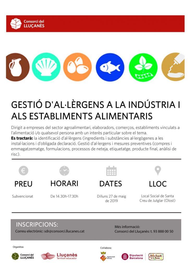 Curs d'al·lèrgens a la indústria i als establiments alimentaris